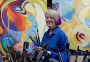 Judith creates Possibilities in her studio